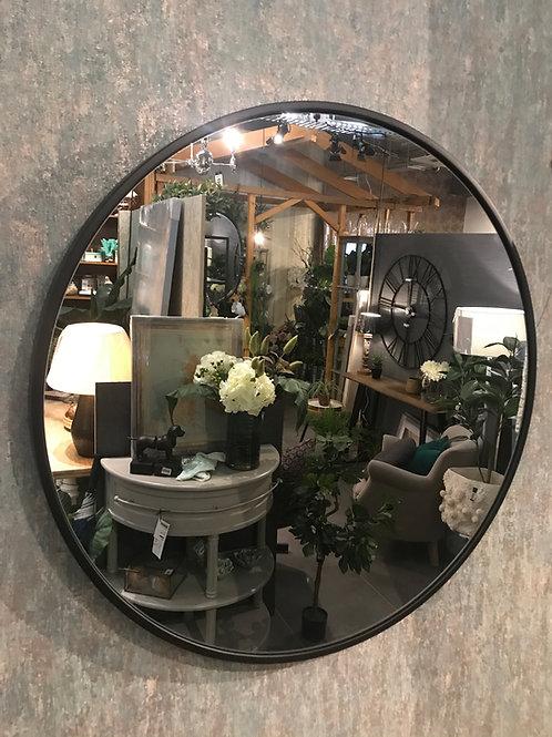 Black round mirror