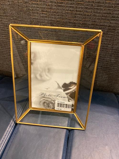 "Brass frame 4x6"""
