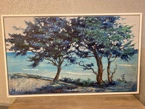 Blue trees - painting on canvas