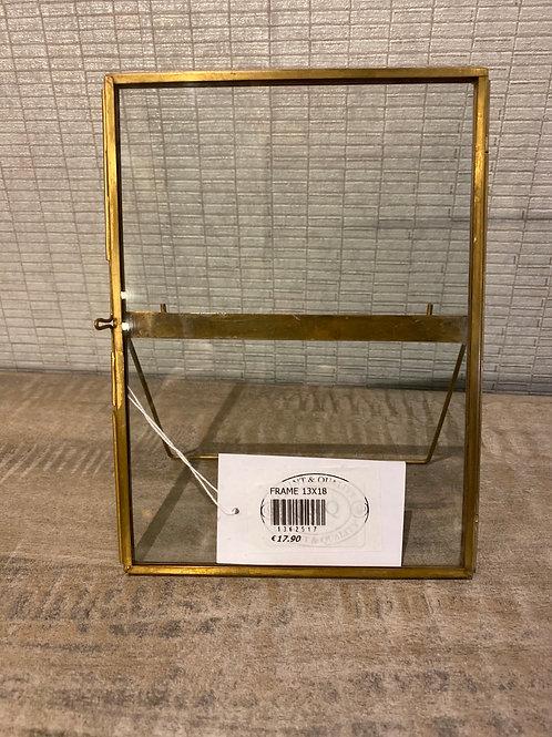 Brass frame 13x18cm
