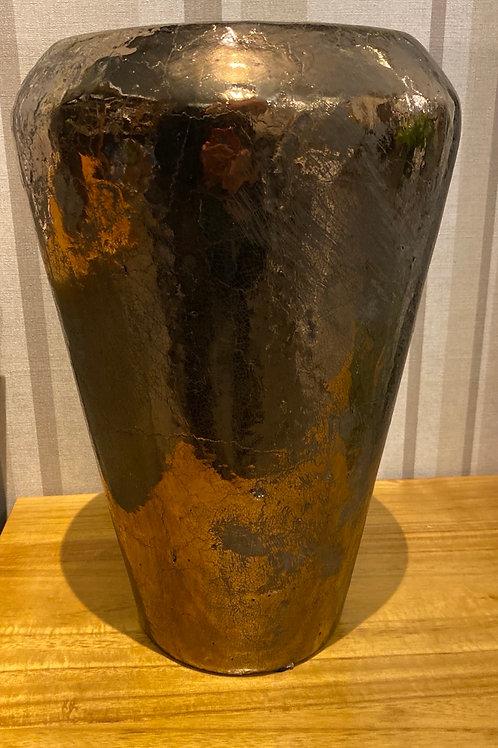 Copper tones ceramic vase