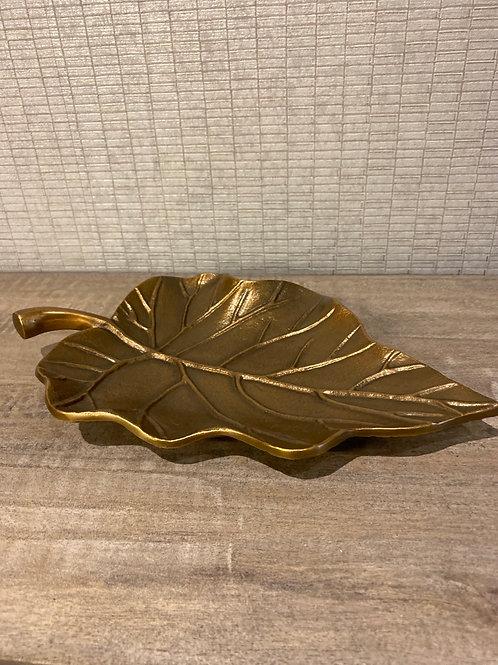 Brass leaf tray