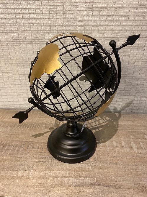 Globe black and gold