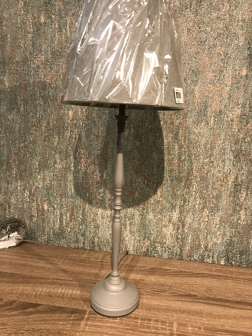Grey tall lamp