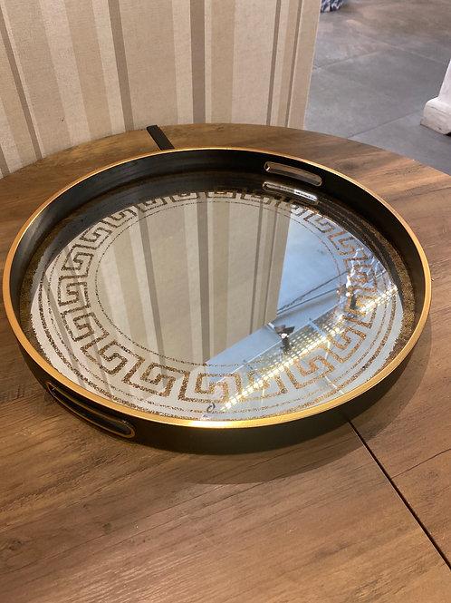 Black mirrored tray