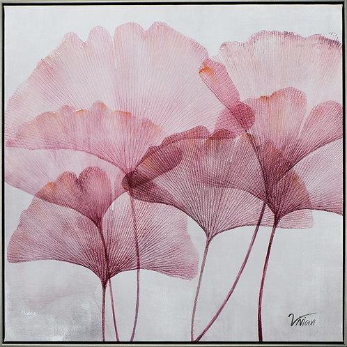 Ginkgo leaves in pink II
