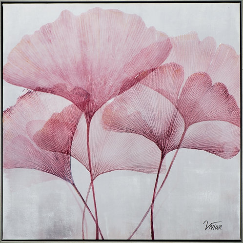 Ginkgo leaves in pink I