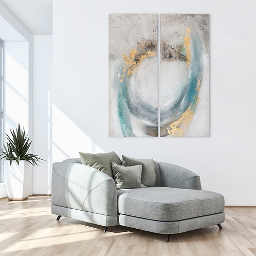 Abstract artwork set of 2