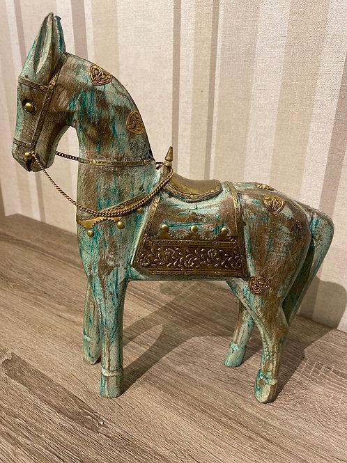 Wooden green horse