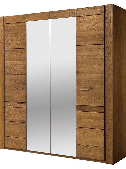 Velvet 4 door wardrobe with Mirror
