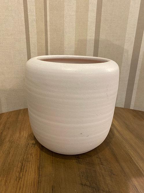 White ceramic pot