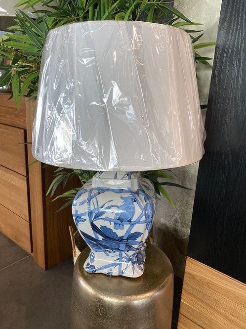 Blue bird lamp