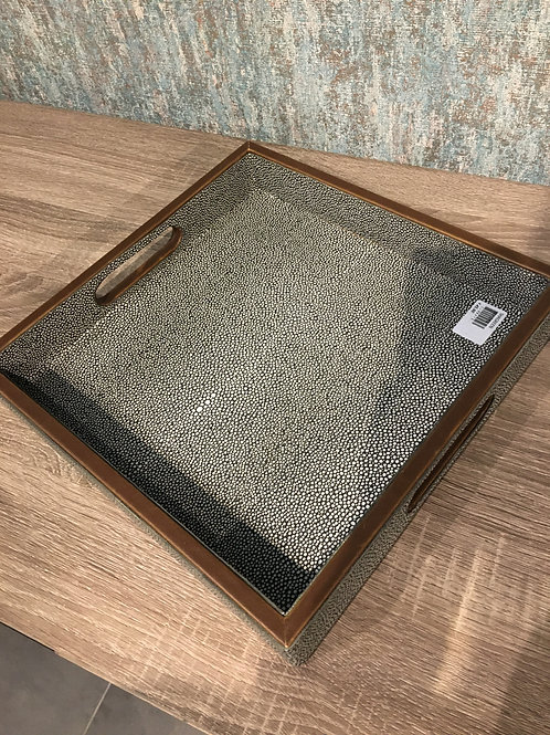 Large shagreen tray