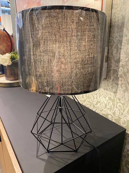 Black geometric lamp