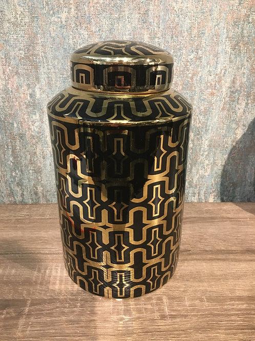 Black & gold jar