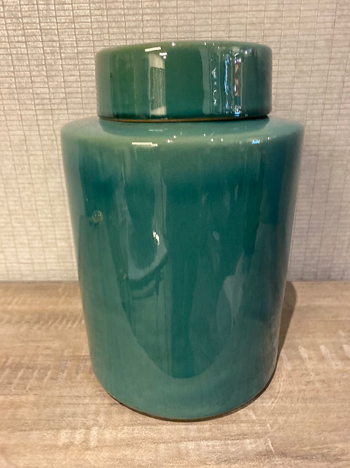 Teal jar large