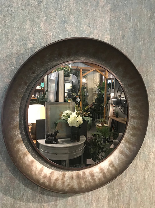 Distressed metal mirror