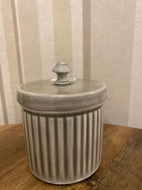 Grey metal canister small