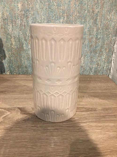 Taupe ceramic vase