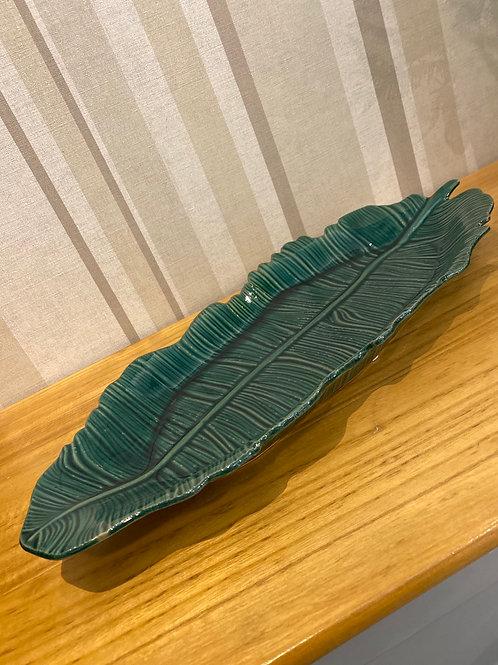 Green leaf tray