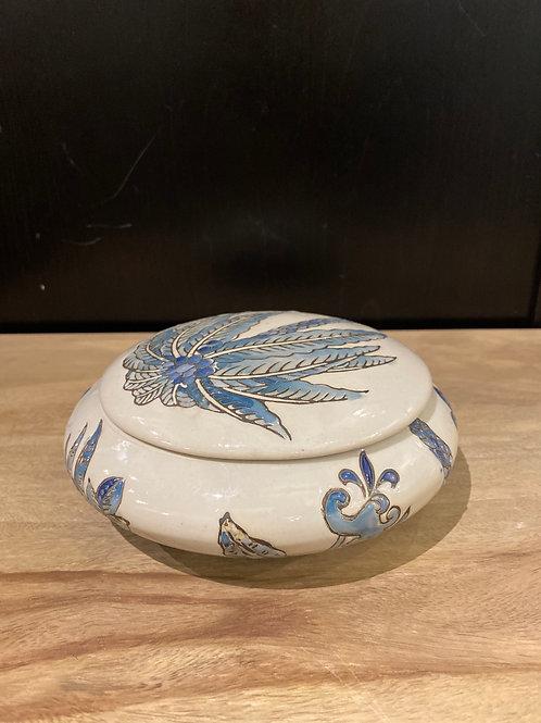 Blue palm urn