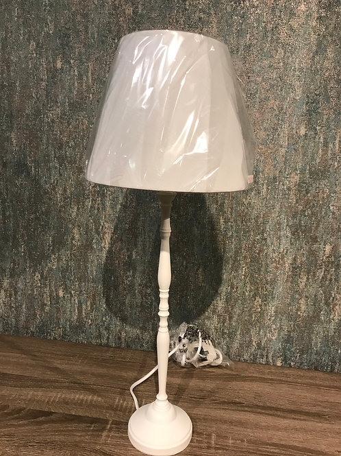 White tall lamp