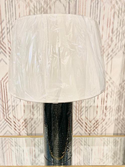 Teal metal lamp