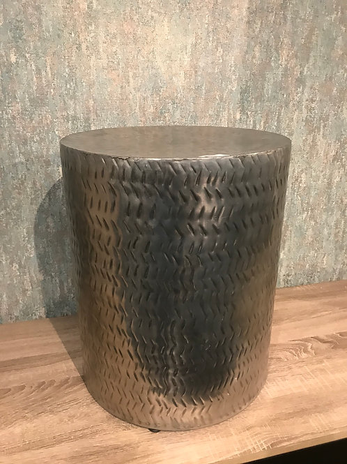 Metal round side table