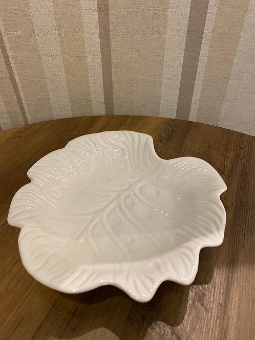 White ceramic leaf