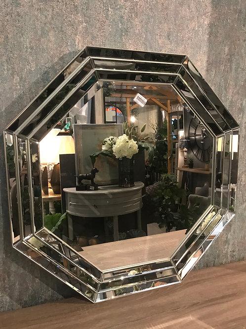 Mirrored hexagon mirror