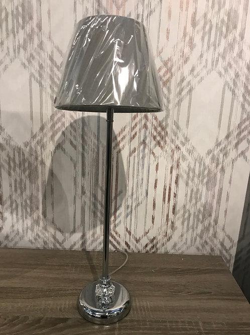 Chrome tall lamp