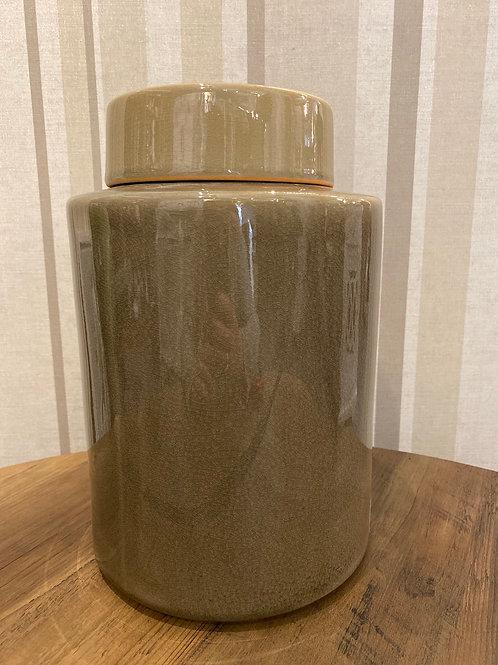 Large taupe jar