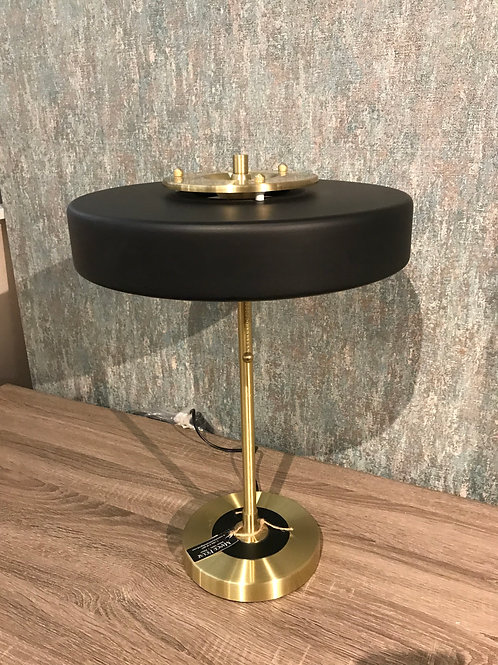 Black and brass desk lamp