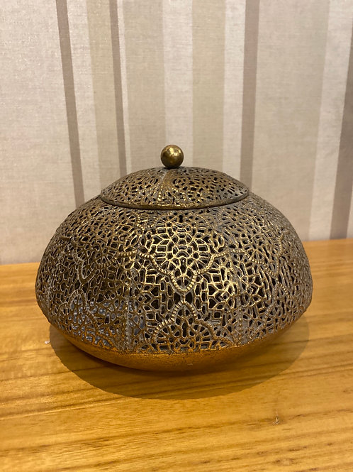 Gold filigree jar