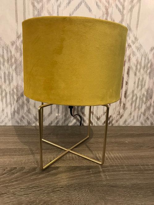 Mustard velvet lamp
