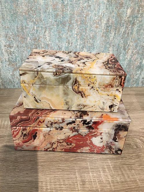 Glass marble box Sml