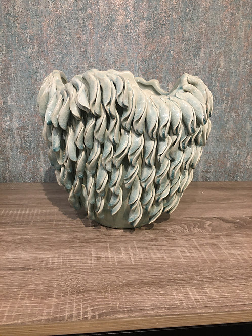 Grey curly pot