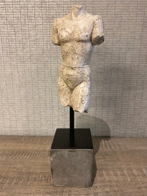 Male figure on stand