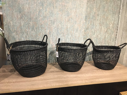 Black basket set