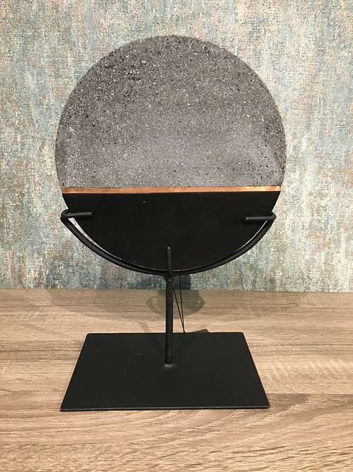 Lava stone on stand