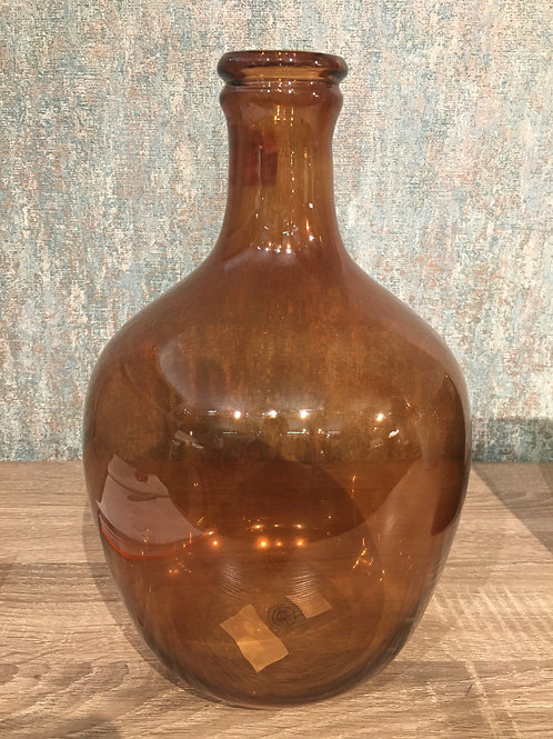 Ochre glass vase