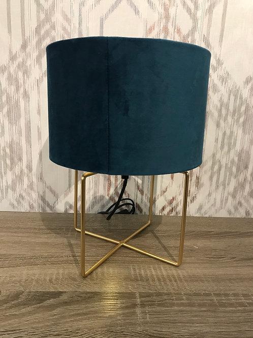 Teal velvet lamp