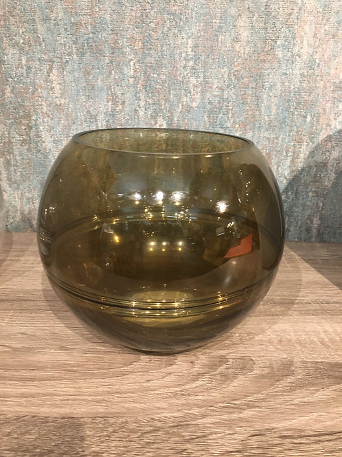 Optik glass round vase