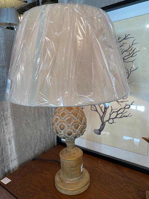 Wooden artichoke lamp