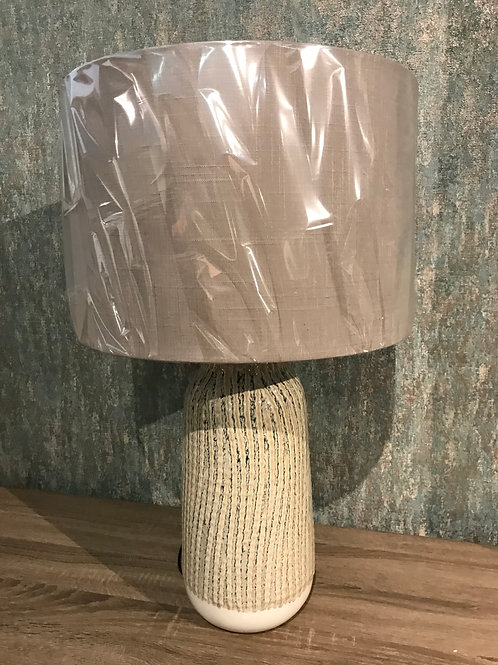 Beige ceramic lamp