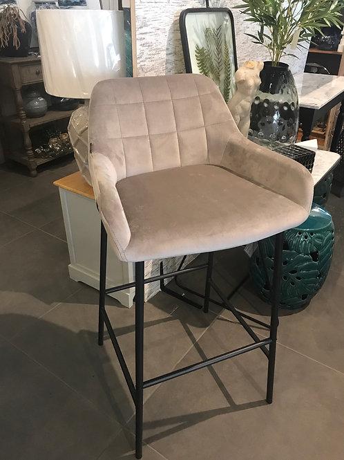 Katel stool grey velvet
