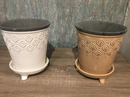 Chantilly pot Taupe / Cream