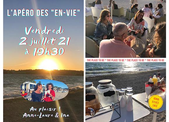 """L'Apéro des """"En-Vie"""" du vendredi 2 juillet à La Voile - Six Fours"""