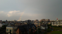 Rainbow seen from the lab
