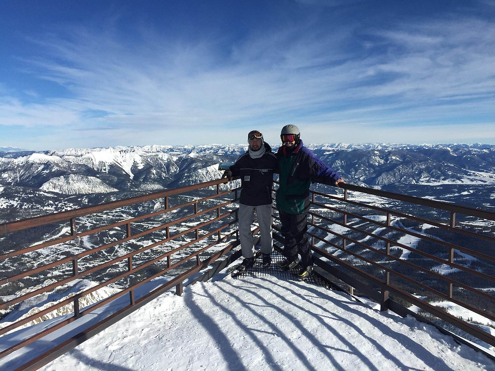 Mo and I at the Top of Big Sky, Montana in Jan 2015